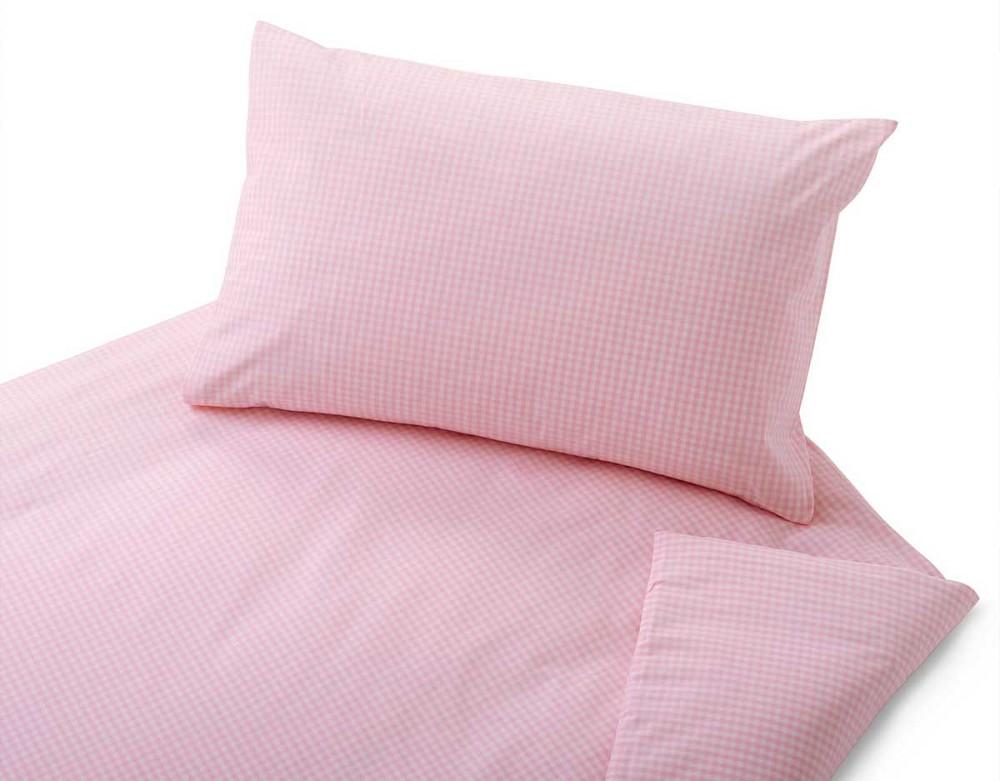 kinder bettw sche vichy rosa kariert allsana produkte f r. Black Bedroom Furniture Sets. Home Design Ideas