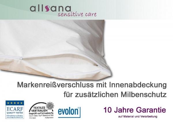 allsana allergiker bezug f r matratzen topper 200x200x8cm. Black Bedroom Furniture Sets. Home Design Ideas