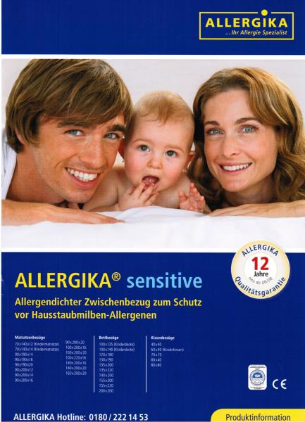 allergika sensitive matratzenbezug 100x220x16cm allergiker. Black Bedroom Furniture Sets. Home Design Ideas