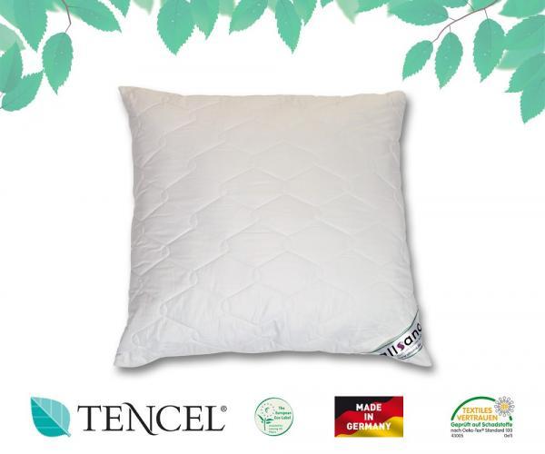 allsana tencel lyocell klimafaser kopfkissen 80x80 cm f r allergiker geeignet ebay. Black Bedroom Furniture Sets. Home Design Ideas