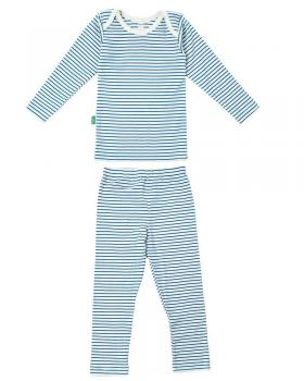 3c7b95fc666836 Lotties 2- teiliges Wäsche- Set aus Bio Baumwolle geringelt in blau ...