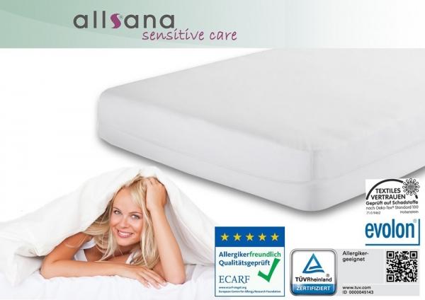 allsana sensitive care encasing milbenschutzbezug f r matratzen topper allsana produkte f r. Black Bedroom Furniture Sets. Home Design Ideas